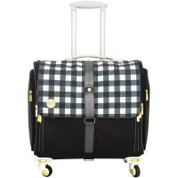We R Memory Keepers 360 Crafter's Bags - Fold Up Craft Bag - Black Plaid