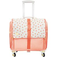 We R Memory Keepers 360 Crafter's Bags - Fold Up Craft Bag - Blush Dot