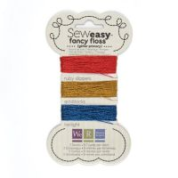 We R Memory Keepers Sew Easy Fancy Floss - Glitter - Primary