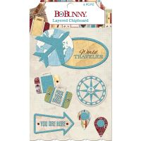 Bo Bunny World Traveler - Layered Chipboard