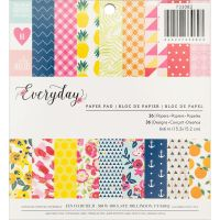 American Crafts Jen Hadfield - Everyday - 6x6 Paper Pad