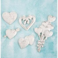 Prima Marketing Shabby Chic Resin Hearts