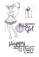 Prima Marketing Julie Nutting Doll Stamp - Party Girl Set 4