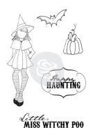 Prima Marketing Julie Nutting Doll Stamp - Witchy Poo 4
