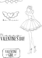 Prima Marketing Julie Nutting Doll Stamp - Love Day 4x6 Cling Stamp Kit