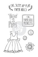 Prima Marketing Julie Nutting Doll Stamp - Play Time 4