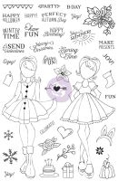 Prima Marketing Julie Nutting Planner Clear Stamp - Holiday Bliss