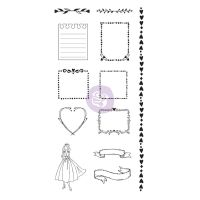 Prima Marketing Julie Nutting Doll Stamps - Frames