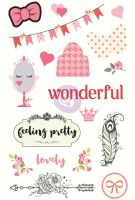 Prima Marketing Julie Nutting - Chipboard Stickers