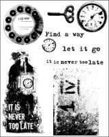 Prima Marketing 6x7.5 Cling Stamp-Never Too Late