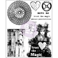 Prima Marketing 6x7.5 Cling Stamp-Trust the Magic