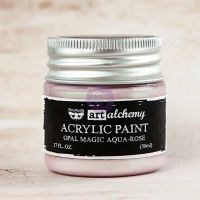 Prima Marketing Art Alchemy: Acrylic Paint-Opal Magic Aqua-Rose 1.7oz