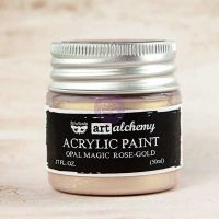 Prima Marketing Art Alchemy: Acrylic Paint-Opal Magic Rose-Gold 1.7oz
