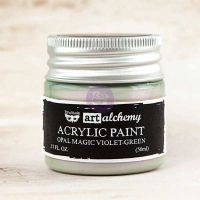 Prima Marketing Art Alchemy: Acrylic Paint-Opal Magic Violet-Green 1.7oz