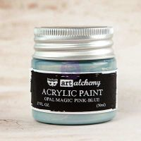 Prima Marketing Art Alchemy: Acrylic Paint-Opal Magic Pink-Blue 1.7oz