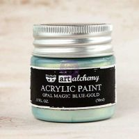 Prima Marketing Art Alchemy: Acrylic Paint-Opal Magic Blue-Gold 1.7oz