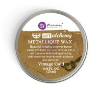 Prima Marketing Art Alchemy-Metallique Wax-Vintage Gold