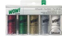American Crafts Christmas Glitter Value Pack (5pc)