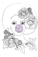 Prima Marketing Jamie Dougherty Bloom Girl Cling Stamp - Joy