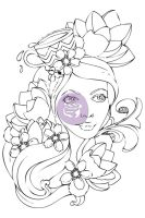 Prima Marketing Jamie Dougherty Bloom Girl Cling Stamp - Paige