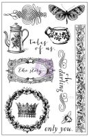 Prima Marketing 4x6 Cling Stamp-Tales of You & Me
