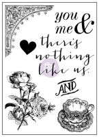 Prima Marketing 3x4 Clear Stamp-Tales of You & Me #1
