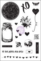 Prima Marketing 4x6 Cling Stamp - Love Clippings