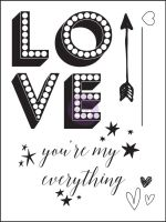 Prima Marketing Clear Stamp - Love Clippings - You're my everything