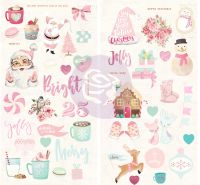Prima Marketing Santa Baby Chipboard Stickers