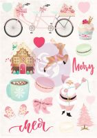 Prima Marketing Santa Baby Puffy Stickers