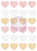 Prima Marketing Santa Baby Glitter Stickers - Hearts