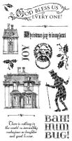 Graphic 45 A Christmas Carol Cling Stamp Set 1