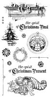 Graphic 45 A Christmas Carol Cling Stamp Set 2