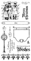 Graphic 45 A Christmas Carol Cling Stamp Set 3