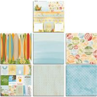Bo Bunny Beach Therapy 12x12 Bonus Paper Bundle