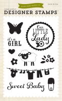 Echo Park It's A Girl 4x6 Stamp - Bundle of Joy 2 Girl