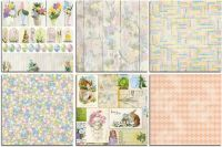 Bo Bunny Cottontail Bonus 12x12 Paper Bundle