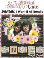 Bo Bunny Petal Lane I Want It All! 12x12 Collection Bundle