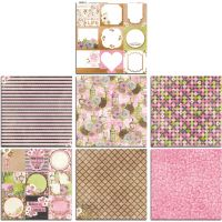 Bo Bunny Sweet Moments 12x12 Bonus Paper Bundle