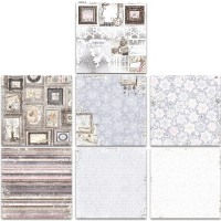 Bo Bunny Winter Wishes Bonus 12x12 Paper Bundle