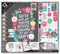 Me & My Big Ideas Create 365 BIG Happy Planner Box Kit - Flower Pop Planner with Disc Binding