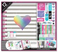 Me & My Big Ideas Create 365 BIG Happy Planner Box Kit - Rainbox Foil Planner with Disc Binding