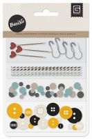 Basic Grey Barista - Buttons, Sequins & Twine Pack