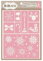 Bo Bunny Winter Fun Stickable Stencil