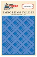 Carta Bella Embossing Folder -Bold Plaid