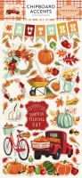 Carta Bella Fall Break 6x12 Chipboard Accents