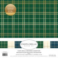 Carta Bella Holiday Plaid Gold Foil 12x12 Collection Kit