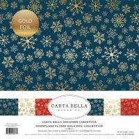 Carta Bella Snowflake Flurry Gold Foil 12x12 Collection Kit