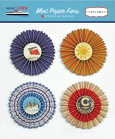 Carta Bella Let's Cruise Mini Paper Fans