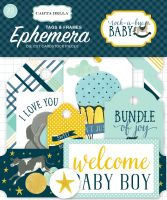 Carta Bella Rock-a-Bye Boy Frames & Tags Ephemera
